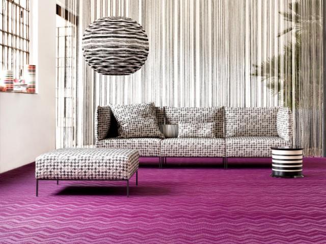 Un sol vinyle tissé imitation moquette pour mon salon - Des sols souples en trompe l'oeil