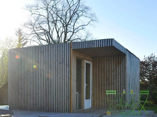 Une simple déclaration de travaux à la mairie - Un studio de jardin modulable