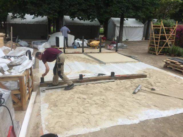 Une fondation de sable fin - Esprit minéral pour un jardin à part