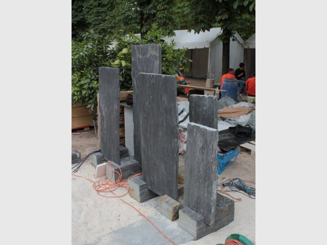 Une préfabrication de l'ensemble des pièces - Esprit minéral pour un jardin à part
