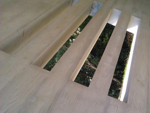 Stries verticales - Villa béton Ramatuelle