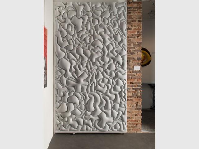 Un revêtement molletonné pour un mur chaleureux  - Les murs prennent du relief