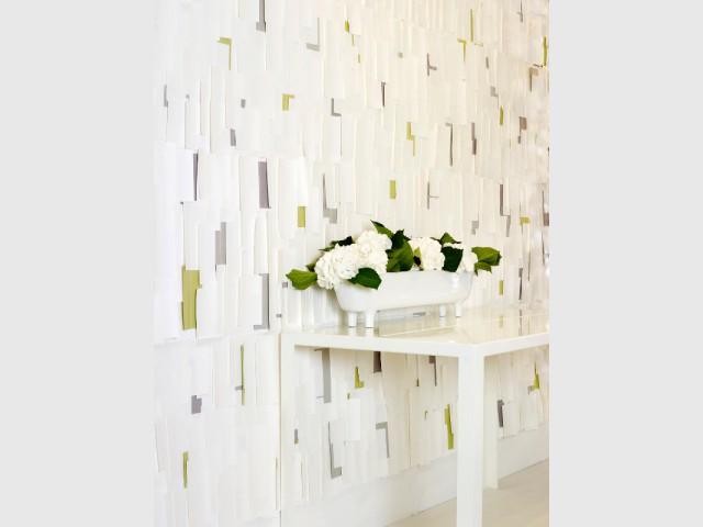 Du papier peint pour un mur comme recouvert de post-it - Les murs prennent du relief