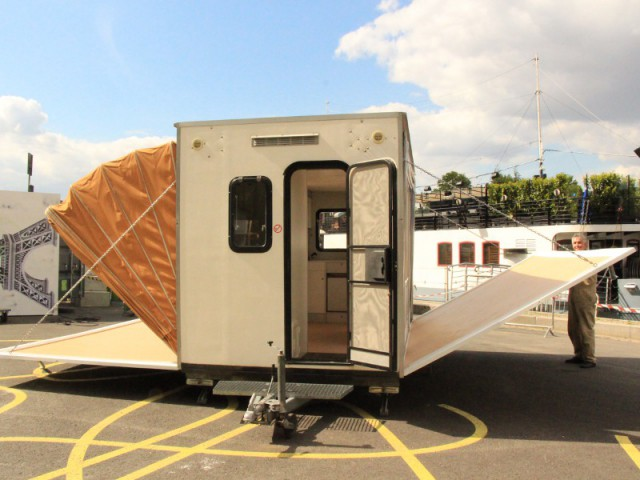 Une caravane papillon qui triple sa surface - Exposition City Camping