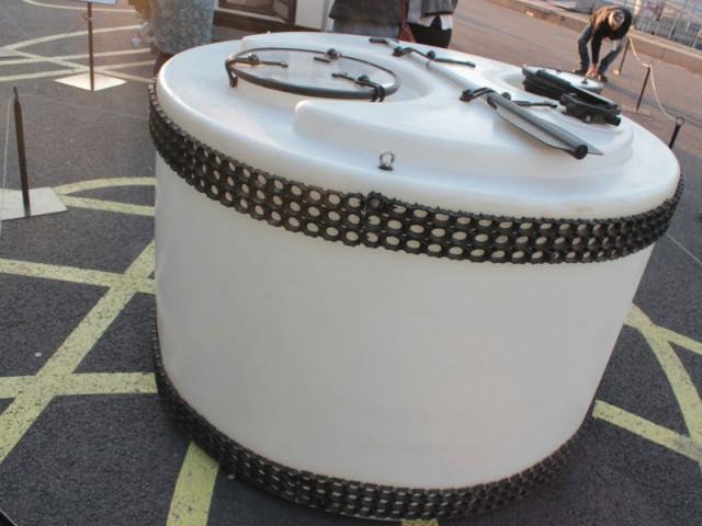 Un module lunaire pour se réfugier - Exposition City Camping