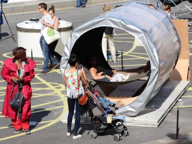 Une maison tube écologique qui se déplace librement - Exposition City Camping