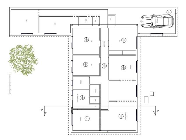 Un pavillon très cloisonné au plafond trop bas - Surélévation d'un pavillon francilien