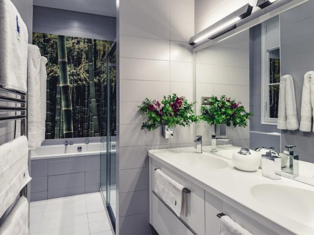 Salle de bains chambre Timmers : le grand confort - Un appartement aux mille reflets