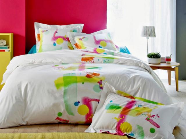 Des touches de peintures pour une parure de lit dynamique - Tendance aquarelle