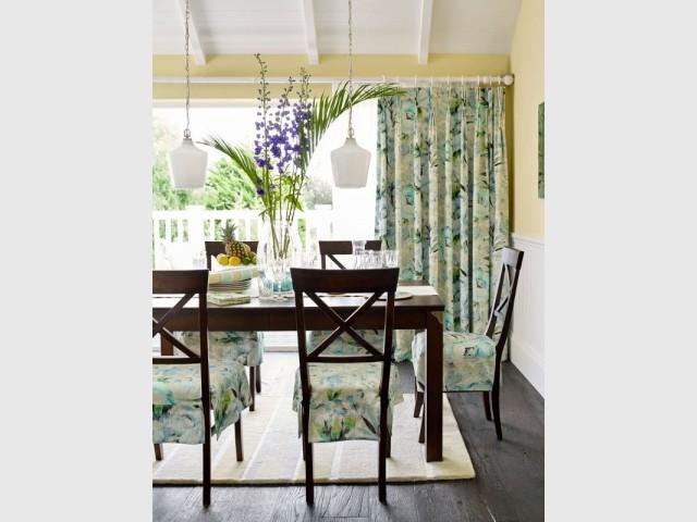 Un tissu jungle pour une maison au style colonial - Tendance aquarelle