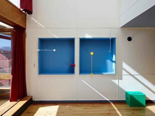 Des niches de couleur qui apportent du pep à l'appartement - Cité radieuse - Le Corbusier