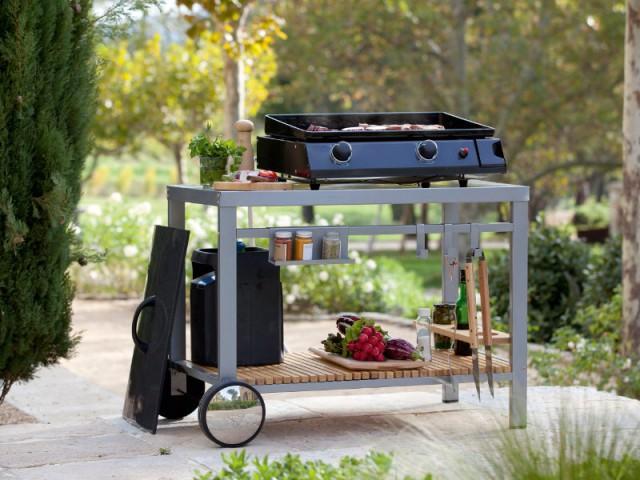 Une plancha et une desserte pour les amateurs de barbecues occasionnels - Un barbecue pour chaque occasion