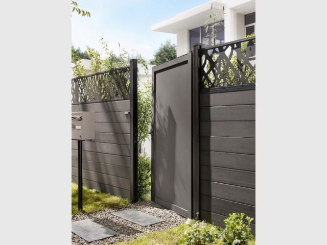 Une clôture anthracite pour une maison chic et protégée - Embellir l'extérieur de sa maison