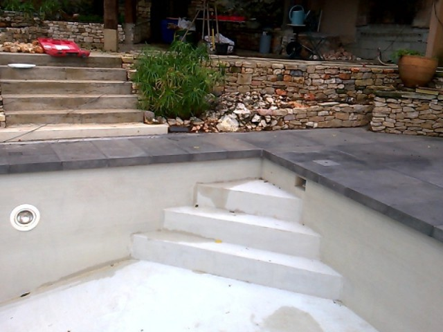 Fiche technique de la rénovation - Rénovation d'abords de piscine et terrasses