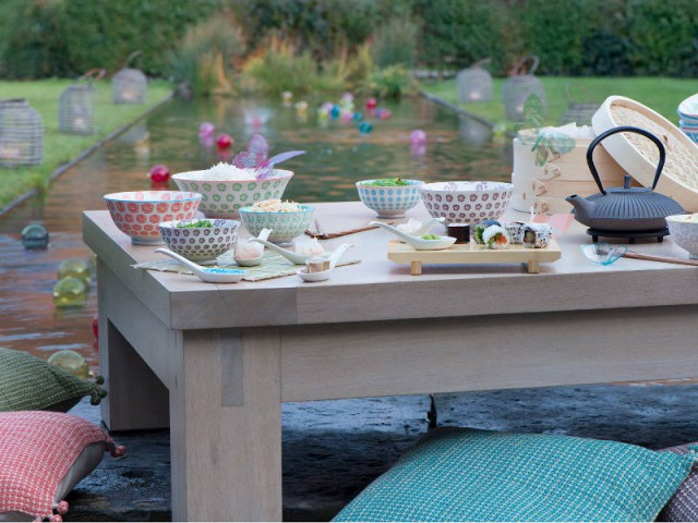 inspirations des tables estivales pour un repas dehors. Black Bedroom Furniture Sets. Home Design Ideas