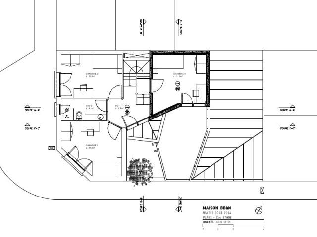 Trois chambres à l'étage grâce à une surélévation - Rénovation, extension et surélévation à Nantes