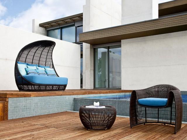 Un canapé épais pour se reposer à l'ombre  - Assise outdoor