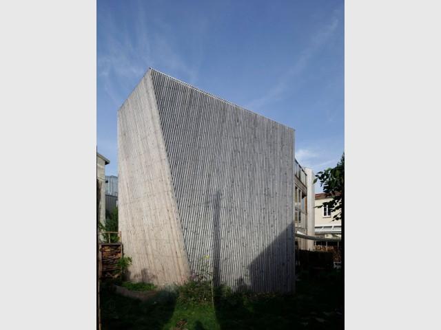 Un pan de mur incliné - Maison Cosse - ARBA Architecture