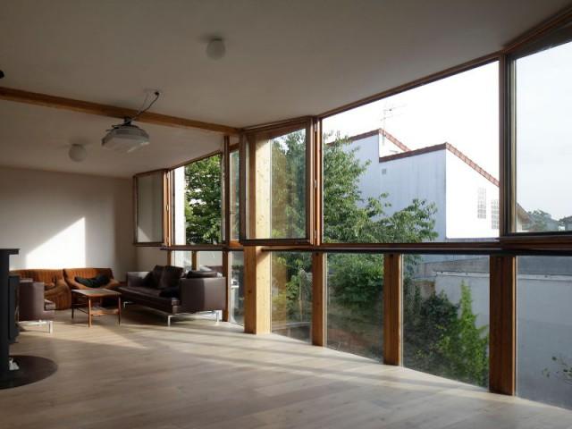 Une pièce à vivre au R+1 - Maison Cosse - ARBA Architecture