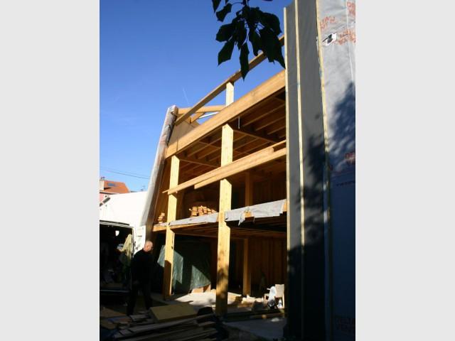 Une partie du chantier en autoconstruction - Maison Cosse - ARBA Architecture