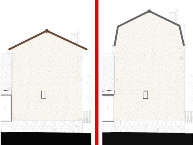 Une surélévation et une toiture mansardée pour gagner 30m2 - Surélévation pour une suite parentale