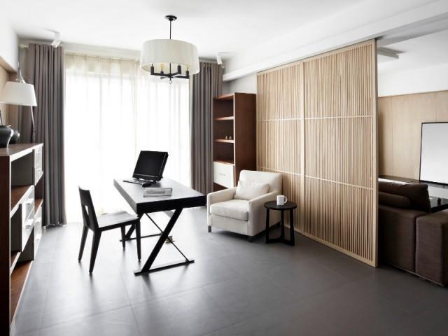 Projet 2 : un coin bureau derrière des portes coulissantes, pour un espace modulable - Un bureau chez soi