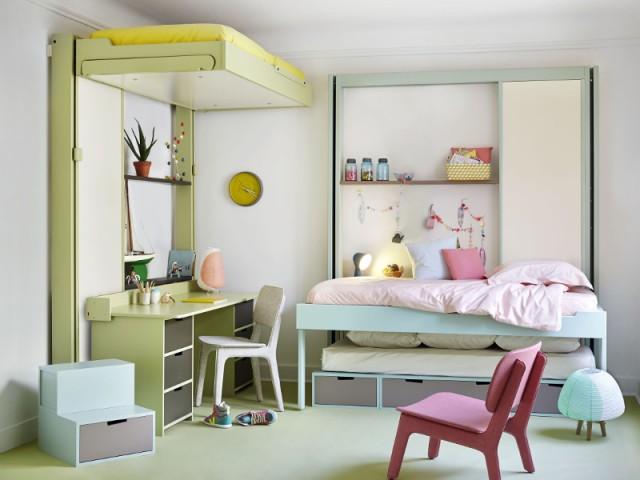 Choisir des lits escamotables pour que chaque enfant vive à son rythme - Une chambre d'enfants pour deux ou plus