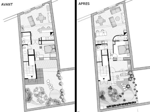 Restructuration totale pour un appartement atypique avec for A7 auto pieces jardin