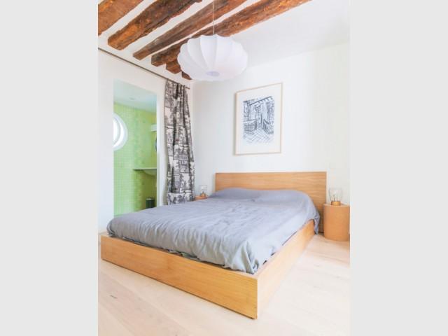 Restructuration totale pour un appartement atypique avec jardin - Appartement avec une chambre ...