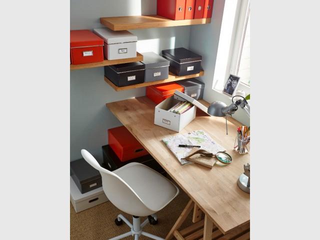 Solutions de rangement astucieuses pour un bureau optimisé