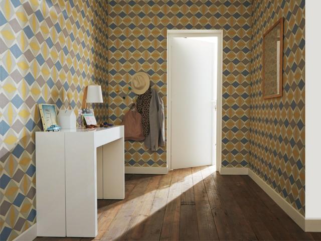 Identifier la zone avec du papier peint ou de la peinture - Aménager son entrée
