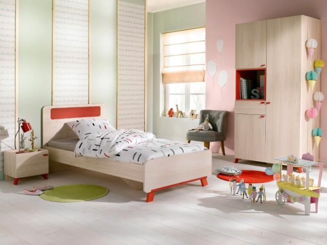 Une table de chevet color block pour une chambre d'enfant fifties - Tables de chevet originales pour une chambre d'enfant