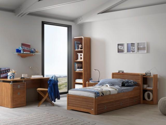 Une table de chevet coulissante pour une chambre d'enfant esprit marin - Tables de chevet originales pour une chambre d'enfant