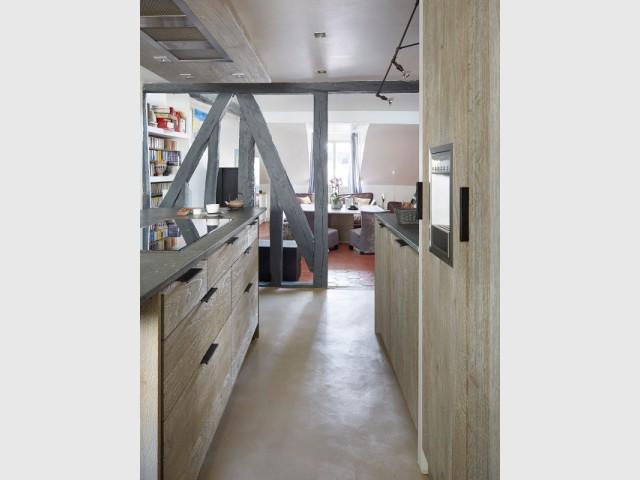 Des rangements optimisés et de l'électroménager dissimulé - Cuisine et salle à manger Xavie'z