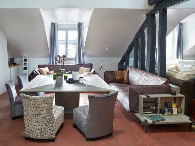 Une pièce hybride entre salle à manger et salon - Cuisine et salle à manger Xavie'z