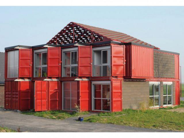 Une maison individuelle composée de huit conteneurs - Maison containers