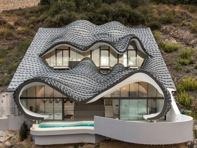 Une maison en béton armé, courbe comme une vague - Casa Campos - GilBartolomé Arquitectos