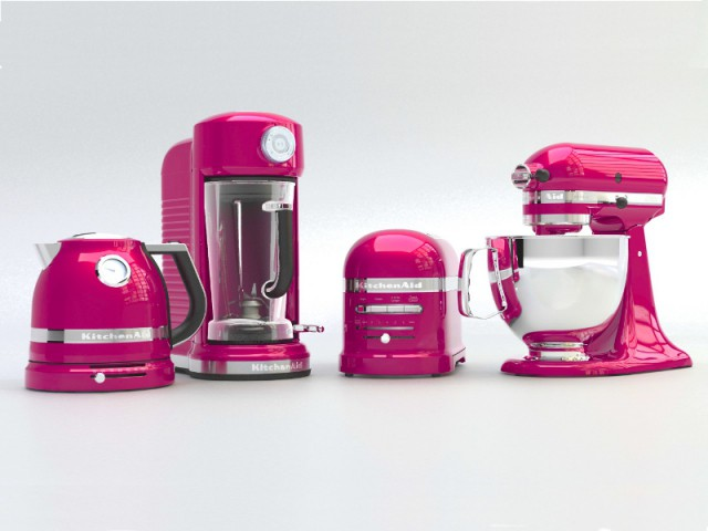La collection d'appareils rose framboise de KitchenAid - Collection Artisan