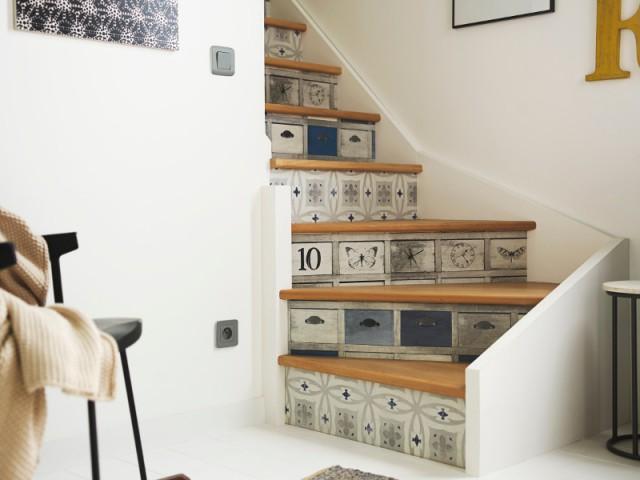 Du papier peint en trompe l'œil pour des contremarches uniques - Escaliers personnalisés