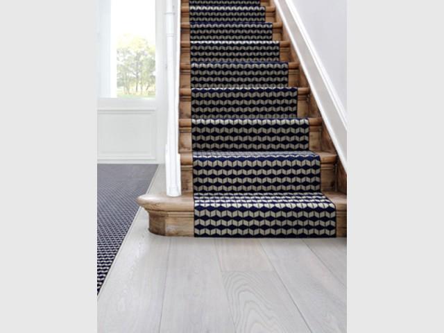 Un tapis moderne pour un escalier graphique - Escaliers personnalisés