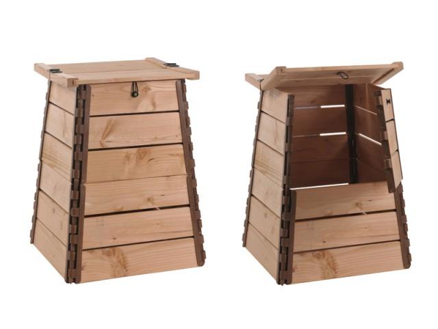 Jardinage d 39 automne op ration anti feuilles mortes - Composteur en bois ...