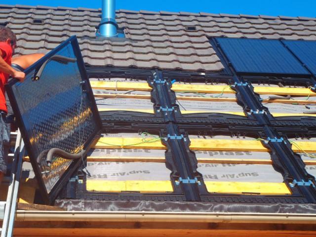 Des panneaux hybrides double-fonction - Une maison avec panneaux solaires hybrides