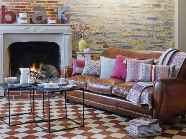 Un salon vintage pour une pause au coin du feu - Opération cocooning