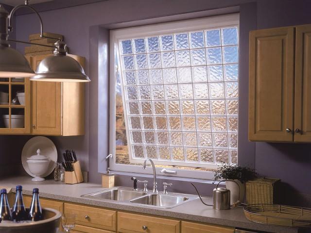 Une fenêtre en block de verre - Carreaux de verre
