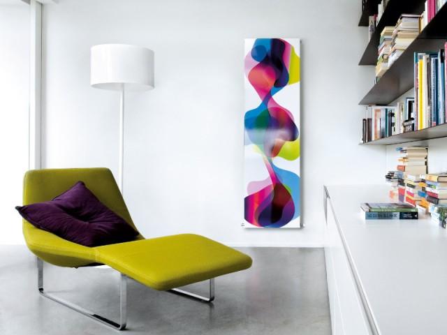 Un radiateur comme une peinture abstraite - Radiateur oeuvre d'art