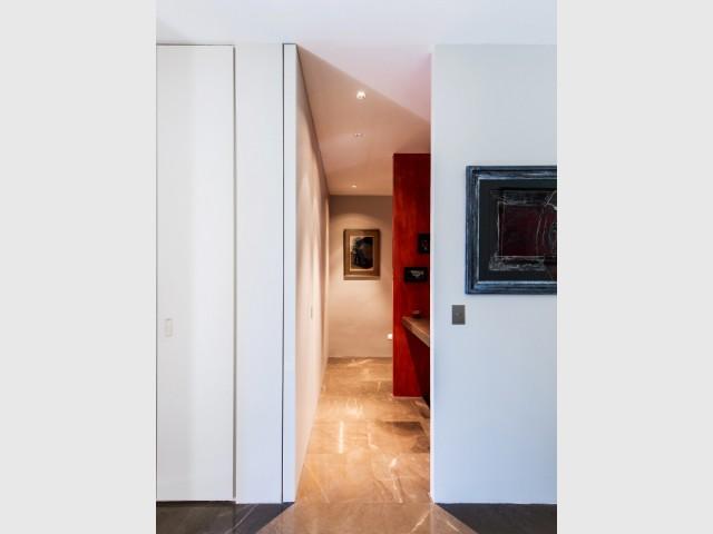 Des toilettes modulables dans un dégagement - Système Elezio