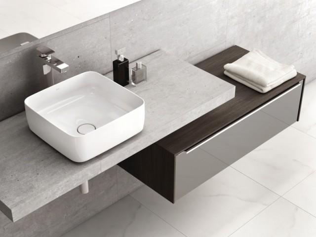 Une vasque carrée ultra fine  - vasque à poser