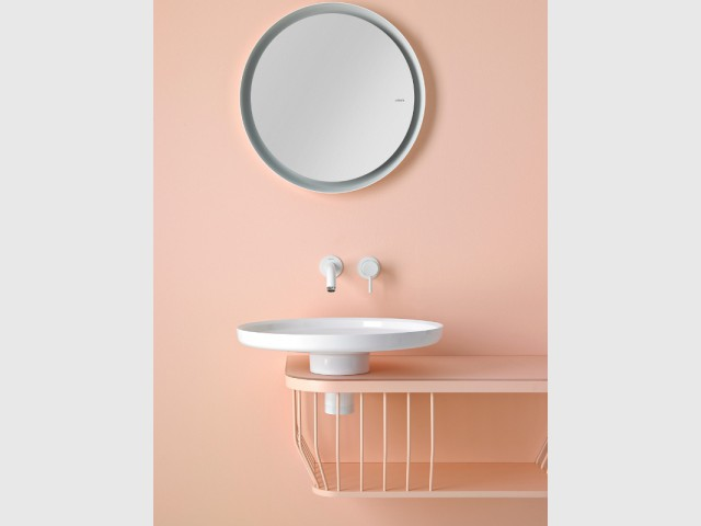 Une vasque plate et épurée - vasque à poser