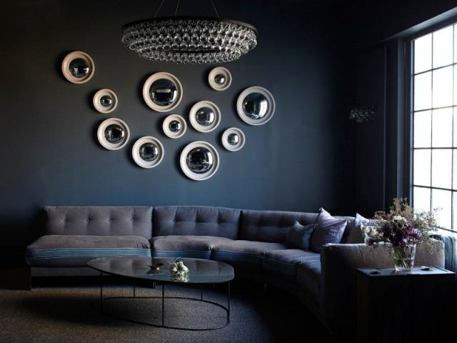 Des miroirs convexes pour un mur effet bulle - Des miroirs dans mon intérieur