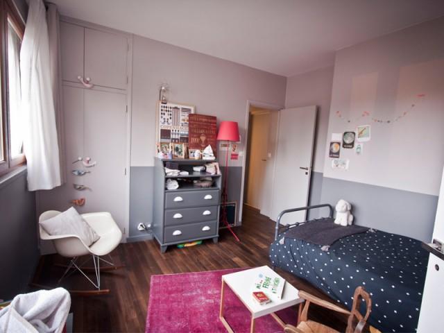Une chambre d'enfant bicolore - Coup de jeune pour un appartement des années 70